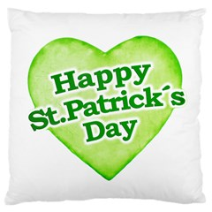 Happy St Patricks Day Design Large Cushion Case (Two Sided)