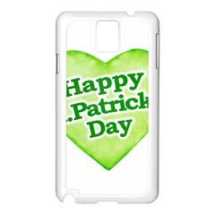 Happy St Patricks Day Design Samsung Galaxy Note 3 N9005 Case (White)