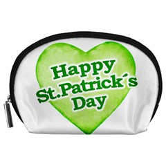 Happy St Patricks Day Design Accessory Pouch (Large)
