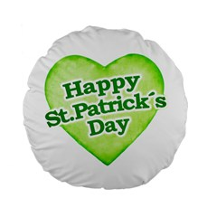 Happy St Patricks Day Design 15  Premium Flano Round Cushion