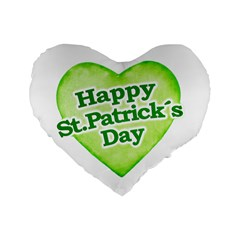 Happy St Patricks Day Design 16  Premium Flano Heart Shape Cushion