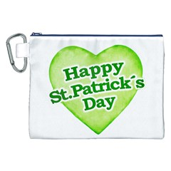 Happy St Patricks Day Design Canvas Cosmetic Bag (XXL)