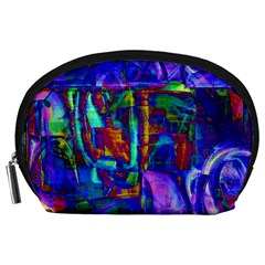Neon Purple Blue Pink Accessory Pouch (Large)