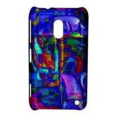 Neon Blue Purple Pink Nokia Lumia 620 Hardshell Case