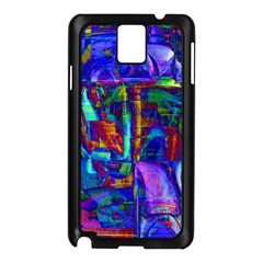 Neon Blue Purple Pink Samsung Galaxy Note 3 N9005 Case (Black)
