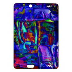 Neon Blue Purple Pink Kindle Fire HD (2013) Hardshell Case