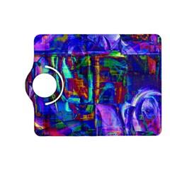 Neon Blue Purple Pink Kindle Fire HD (2013) Flip 360 Case