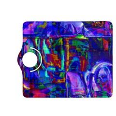 Neon Blue Purple Pink Kindle Fire HDX 8.9  Flip 360 Case