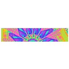 Neon Flower Purple Hot Pink Orange Flano Scarf (Small)
