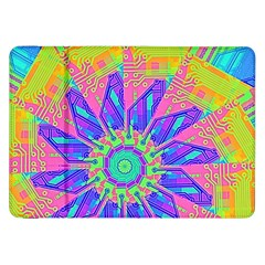 Neon Flower Purple Hot Pink Orange Samsung Galaxy Tab 8 9  P7300 Flip Case