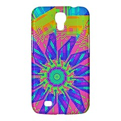 Neon Flower Purple Hot Pink Orange Samsung Galaxy Mega 6 3  I9200 Hardshell Case