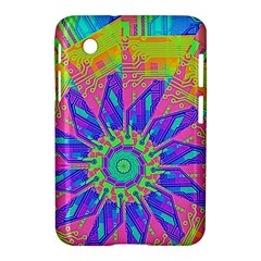 Neon Flower Purple Hot Pink Orange Samsung Galaxy Tab 2 (7 ) P3100 Hardshell Case