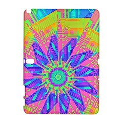 Neon Flower Purple Hot Pink Orange Samsung Galaxy Note 10 1 (p600) Hardshell Case