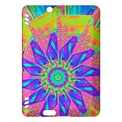 Neon Flower Purple Hot Pink Orange Kindle Fire HDX Hardshell Case