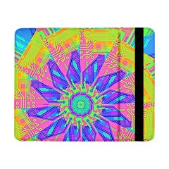 Neon Flower Purple Hot Pink Orange Samsung Galaxy Tab Pro 8.4  Flip Case