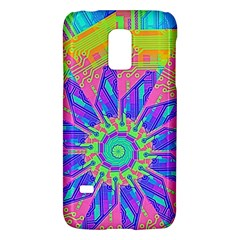 Neon Flower Purple Hot Pink Orange Samsung Galaxy S5 Mini Hardshell Case