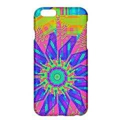 Neon Flower Purple Hot Pink Orange Apple iPhone 6 Plus Hardshell Case