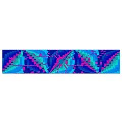 Hot Neon Pink Blue Triangles Flano Scarf (Small)