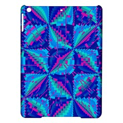 Hot Neon Pink Blue Triangles Apple iPad Air Hardshell Case