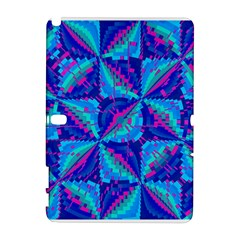 Hot Neon Pink Blue Triangles Samsung Galaxy Note 10.1 (P600) Hardshell Case