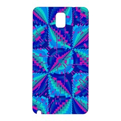 Hot Neon Pink Blue Triangles Samsung Galaxy Note 3 N9005 Hardshell Back Case