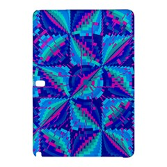 Hot Neon Pink Blue Triangles Samsung Galaxy Tab Pro 10.1 Hardshell Case