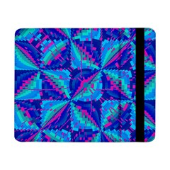 Hot Neon Pink Blue Triangles Samsung Galaxy Tab Pro 8.4  Flip Case