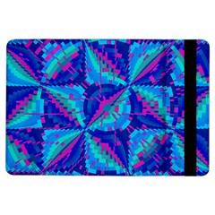 Hot Neon Pink Blue Triangles Apple iPad Air Flip Case