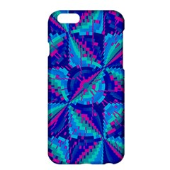 Hot Neon Pink Blue Triangles Apple iPhone 6 Plus Hardshell Case