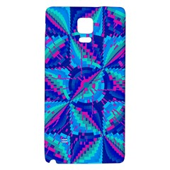 Hot Neon Pink Blue Triangles Samsung Note 4 Hardshell Back Case