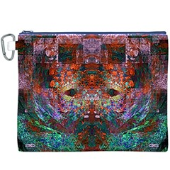 Colorful Abstract Modern Art Red Purple Canvas Cosmetic Bag (XXXL)