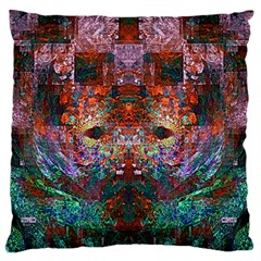 Colorful Abstract Modern Art Red Purple Large Flano Cushion Case (One Side)