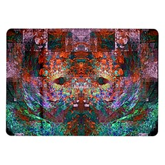 Colorful Abstract Modern Art Red Purple Samsung Galaxy Tab 10.1  P7500 Flip Case