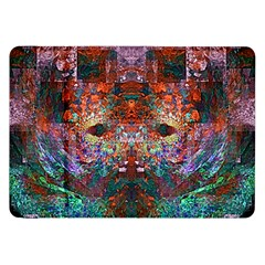 Colorful Abstract Modern Art Red Purple Samsung Galaxy Tab 8.9  P7300 Flip Case
