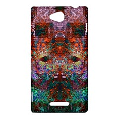 Colorful Abstract Modern Art Red Purple Sony Xperia C (S39H) Hardshell Case
