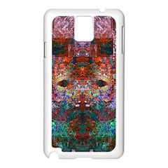 Colorful Abstract Modern Art Red Purple Samsung Galaxy Note 3 N9005 Case (White)