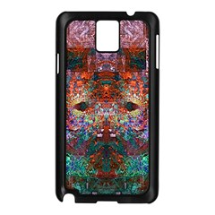 Colorful Abstract Modern Art Red Purple Samsung Galaxy Note 3 N9005 Case (Black)