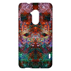 Colorful Abstract Modern Art Red Purple HTC One Max (T6) Hardshell Case