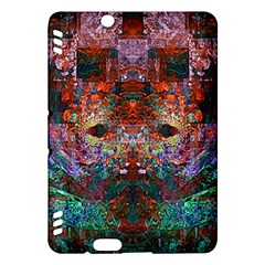 Colorful Abstract Modern Art Red Purple Kindle Fire HDX Hardshell Case