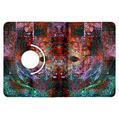 Colorful Abstract Modern Art Red Purple Kindle Fire HDX Flip 360 Case