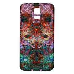 Colorful Abstract Modern Art Red Purple Samsung Galaxy S5 Back Case (White)