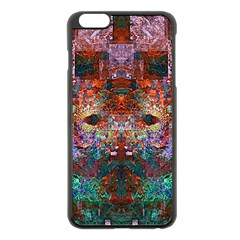 Colorful Abstract Modern Art Red Purple Apple iPhone 6 Plus/6S Plus Black Enamel Case