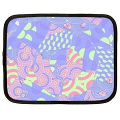 Girls Bright Pastel Summer Design Blue Pink Green Netbook Case (xl)