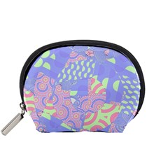 Girls Bright Pastel Summer Design Blue Pink Green Accessory Pouch (Small)