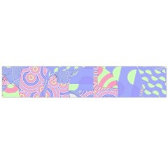Girls Bright Pastel Summer Design Blue Pink Green Flano Scarf (Large)
