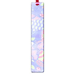 Girls Bright Pastel Summer Design Blue Pink Green Large Book Mark