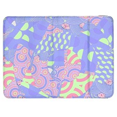 Girls Bright Pastel Abstract Blue Pink Green Samsung Galaxy Tab 7  P1000 Flip Case