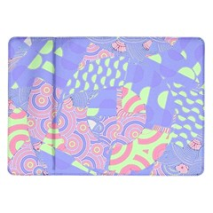 Girls Bright Pastel Abstract Blue Pink Green Samsung Galaxy Tab 10 1  P7500 Flip Case