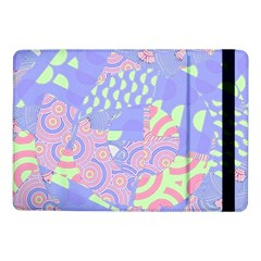 Girls Bright Pastel Abstract Blue Pink Green Samsung Galaxy Tab Pro 10 1  Flip Case