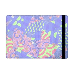 Girls Bright Pastel Abstract Blue Pink Green Apple iPad Mini 2 Flip Case